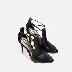 Image 2 of HIGH HEEL LEATHER ANKLE BOOTS WITH STRAPS from Zara