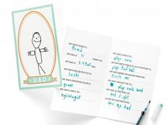 DIY gifts from the kids: Dad Libs Printable Card from Martha Stewart