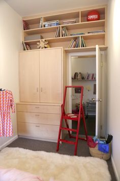 What a great use of space! Kids really don't need much room if you're smart about how you use it.