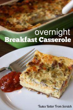 Overnight Sausage and  Egg Casserole on MyRecipeMagic.com