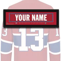 Montreal Canadiens - Carey Price - NHL Jersey Name Patch Nhl Jerseys, Of Montreal, Name Patches, Montreal Canadiens, Chevrolet Logo, Names, Sports, Hockey, Hs Sports