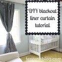 Blackout liner curtain tutorial.