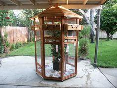 Aviary with DIY instructions. ~ I want birds now!