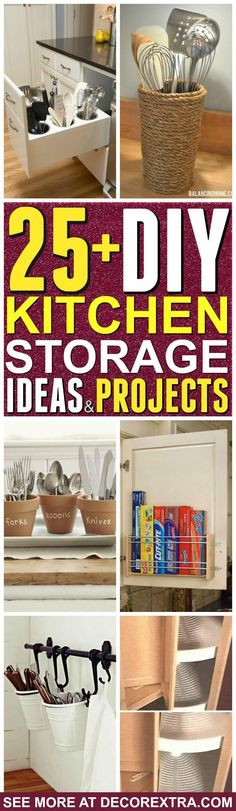 Kitchen Storage Ideas. Is your kitchen overwhelmed with clutter?Today we present you one collection of 25+ Genius DIY Kitchen Organization and Storage Ideasto organize your kitchen.Kitchen is a keypart of any houseand it is crucial to keep it organized. In this collection, you are going to see lots of kitchenorganization and storage tips, including how …