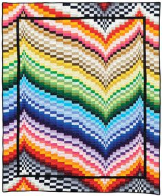 Soho Solids - Freckles Frenzy bargello quilt by Patti Carey Bargello Quilt Patterns, Bargello Quilts, Jellyroll Quilts, Quilt Patterns Free, Stitch Patterns, Quilt Kits, Quilt Blocks, Quilting Projects, Quilting Designs