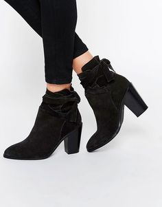 Buy it now. ASOS ELISHIA Suede Slouch Ankle Boots - Black. Boots by ASOS Collection, Suede upper, Point toe, Fold-over cuff, Slouch design, Block heel, Protect with a sude cleaner, 100% Real Leather Upper, Heel height: 8.5cm/3. ABOUT ASOS COLLECTION Score a wardrobe win no matter the dress code with our ASOS Collection own-label collection. From polished prom to the after party, our London-based design team scour the globe to nail your new-season fashion goals with need-right-now dresses…