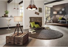 Eglo 94326 Lantada Vintage Dark Nut Wood & Black Tripod Floor Lamp with Taupe Shade. The Eglo 94326 is part of the Floor Lamps range. Light Fittings, Light Fixtures, Retro Lampe, Auckland, Lampe Decoration, Suspension Metal, Chula, Interior Lighting, Interiores Design