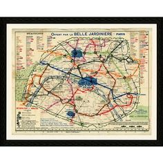 Check out this item at One Kings Lane! Paris Map