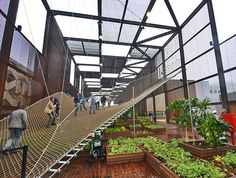 Brazil's porous World Expo pavilion erases boundaries with net-like ramps and walls | Inhabitat - Sustainable Design Innovation, Eco Architecture, Green Building