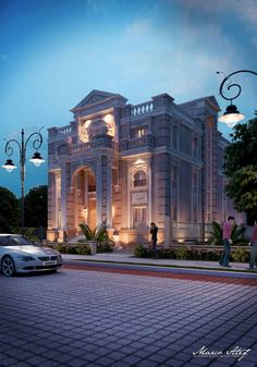 Neoclassical Architecture, Spanish Architecture, Classic Architecture, Islamic Architecture, Amazing Architecture, Villa Design, Facade Design, Exterior Design, Building Exterior