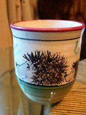 Small pottery bowl/cup with Hedgehogs detail **CUTE**