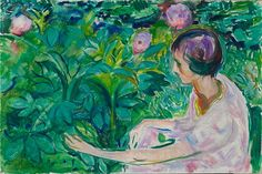 Woman with Peonies 1926 / Oil on canvas / 60 x 90 cm Private collection