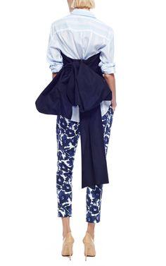 M'O Exclusive: Silk-Faille Bow-Back Top by Rosie Assoulin - Moda Operandi