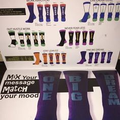 Inspyr Socks Tri-Packs.  Mix and match to make your message