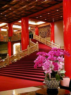 Grand Hotel Lobby, Taipei, Taiwan  Stayed there in the late 50's  Great memory.