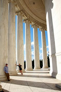 Jefferson Memorial - got to take a pic of me and G like this!