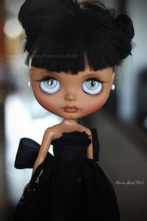 OOAK custom Blythe doll by by SharonAvitalDolls Bratz, Annette Himstedt, African American Dolls, Gothic Dolls, Creepy Dolls, My Black Is Beautiful, Custom Dolls, Blythe Dolls, Dolls Dolls
