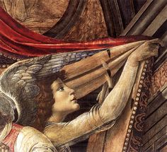 "nataliakoptseva: "" sforzinda: "" Botticelli, Pala di San Barnaba (detail), ca. 1488 "" """