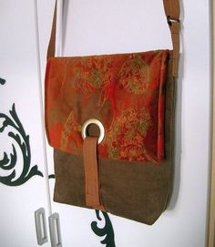 Tasche mit Ösenverschluss von Nähwittchen auf DaWanda.com