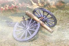 Napoleonic British Army CS00504 RHA Royal Horse Artillery Destroyed Cannon - Made by The Collectors Showcase Military Miniatures and Models. Factory made, hand assembled, painted and boxed in a padded decorative box. Excellent gift for the enthusiast.