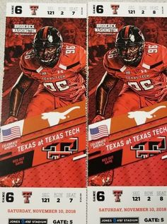 Texas vs Texas Tech Football Tickets November 10 07baa7dcd