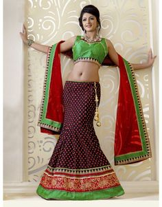 Black Art Silk Lehenga Choli with Zari Work
