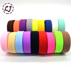 Nueva marca de 3/4 ''(20mm) de color mate cinta de unión cincha elástica de la cinta del ajuste del cordón sólido headwear hecho a mano artesanías de decoración de BRICOLAJE