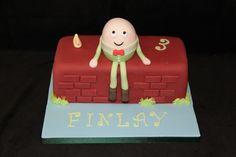 Humpty Dumpty Cake Kids Party Themes, Party Fun, Party Ideas, Birthday Stuff, Birthday Cakes, 2nd Birthday, Nursery Rhyme Party, Nursery Rhymes, Humpty Dumpty