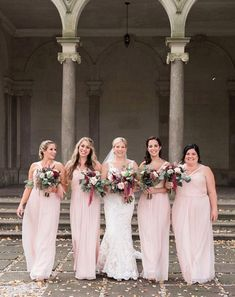 44 Long Bridesmaid Dresses That You Will Absolutely Love Fall Wedding Groomsmen, Fall Wedding Gowns, Fall Wedding Bridesmaids, Amsale Bridesmaid, Pink Bridesmaid Dresses, Pink Wedding Colors, Sophisticated Bride, Weddingideas, Entrance