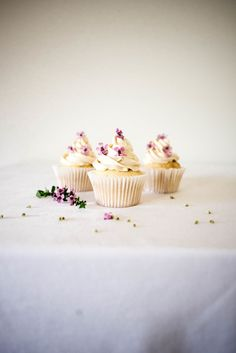 Blondie Cupcakes with Miso Buttercream
