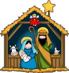 the nativity children free clip art - Google Search