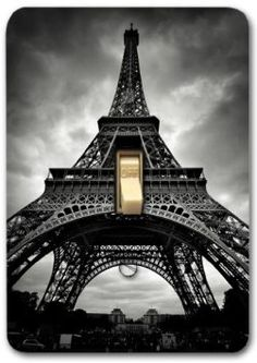 French Paris Eiffel tower Metal Light Switch Plate Cover Home Decor 288: