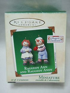 2002 Raggedy Ann and Andy ornaments from Hallmark