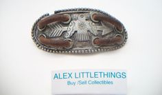 Native American Thunderbird leather bracelet by ALEXLITTLETHINGS, $25.00