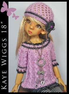 """Sweater, Hat, Necklace, Leggings... KAYE WIGGS 18"""" MSD by Maggie & Kate Create"""