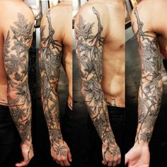 Branch with Leaves - Logan Aguilar Tattoo - sleeve