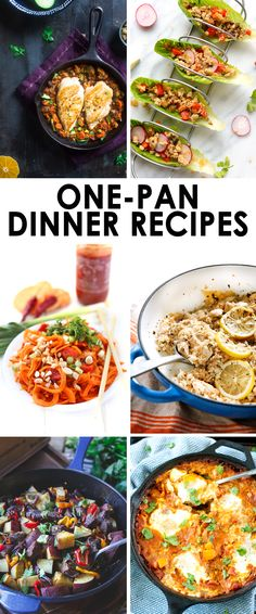 Looking for some one-pan dinner recipes? Look no further! Here's 6 healthy options for you to add to your menu this week!