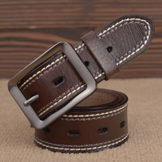 New Fashion Vintage Style Marcas Cintos Famous Brand Luxury Belt Men Cowboy Male Waist Strap Top Cow Leather Pin Buckle Strap