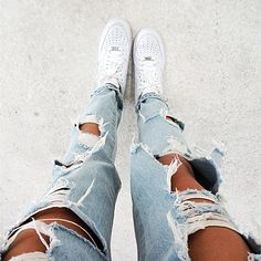 Nike Air Force & Boyfriend Jean #tatjanamariposa #tatjanacatic