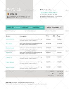 27 Best Creative Invoice Templates For Freelancers Images For The