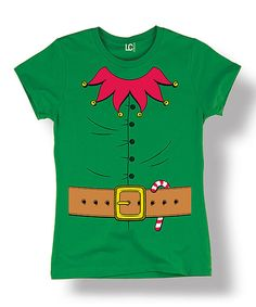 Look at this Kelly Green Christmas Elf Tee - Women on #zulily today!