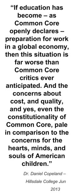 Common Core is un-American and inhuman.  To deprive even one child of education for ulterior motives, is criminal. http://www.americadontforget.com/
