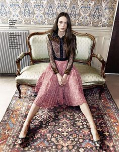 """Beautiful Hope"" Stacy Martin for Grazia France December 2015"
