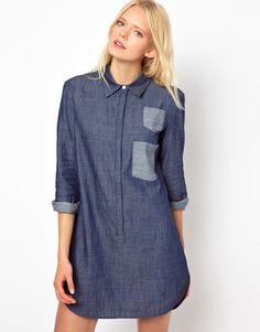 The Denim  shirtdress