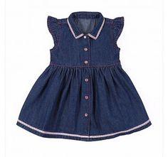 Wrangler® Baby Girls' Cap Sleeve Denim Dress Style: PQ5103D
