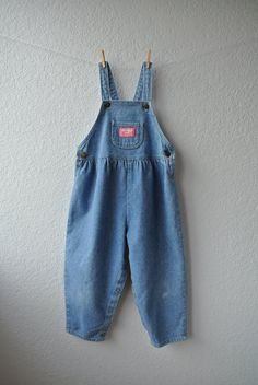 Vintage Toddler Clothes  Light Blue Denim Overalls  by NellsNiche, $18.00