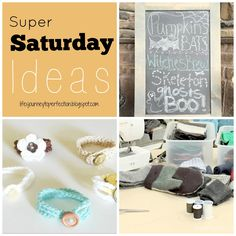 Life's Journey To Perfection: Crochet Bracelets a Fun Super Saturday Craft, also FEATURED Chalkboard Easels, Birthday cards, and Sweater Mittens