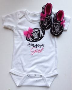 14d27e610 Oakland Raiders Girl Shirt shirt only by saluna on Etsy Raiders Baby