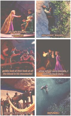 "From ""Blondie"" to ""Rapunzel"". I love this."