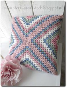 Breathtaking Crochet So You Can Comprehend Patterns Ideas. Stupefying Crochet So You Can Comprehend Patterns Ideas. Crochet Pillow Patterns Free, Granny Square Crochet Pattern, Crochet Motif, Crochet Doilies, Crochet Stitches, Knitting Patterns, Crochet Cushion Cover, Crochet Cushions, Crochet Box